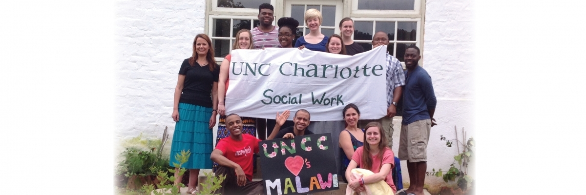 UNC Charlotte social work students